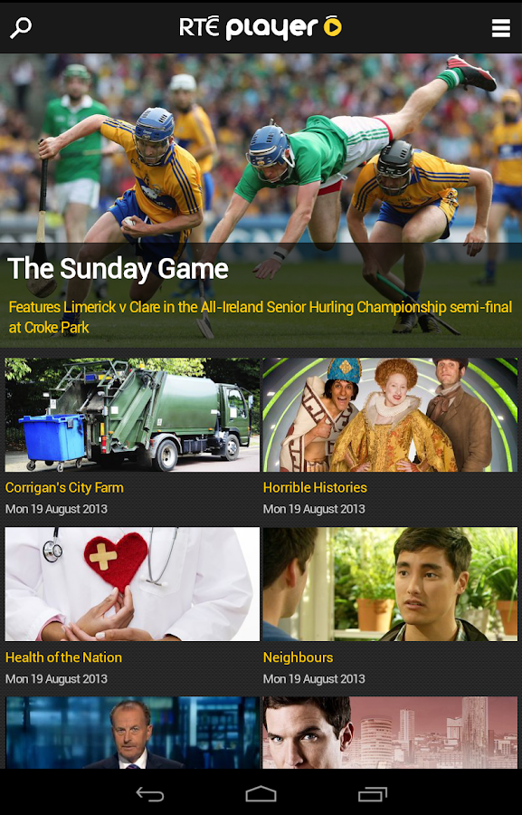RTÉ Player - screenshot