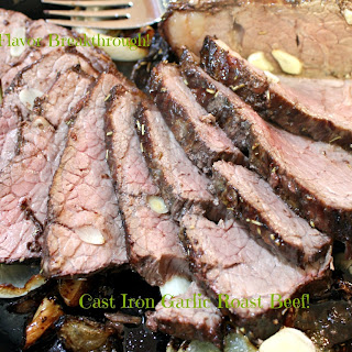 Cast Iron Garlic Roast Beef!