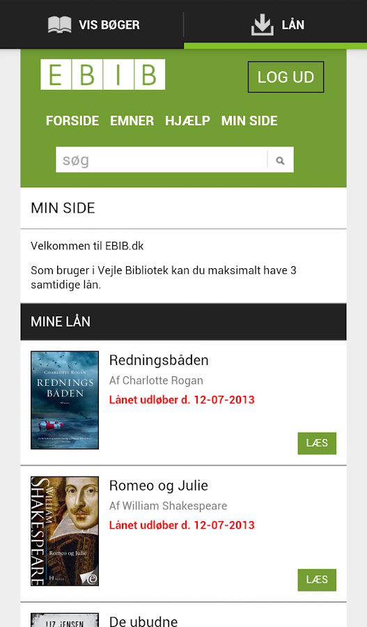EBIB - screenshot