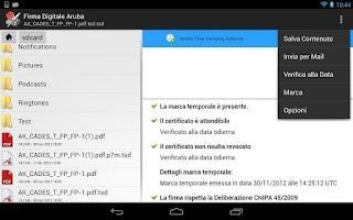 Screenshot of Firma Digitale Aruba