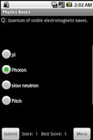 Screenshot of 400 Physics Flashcards & Quiz