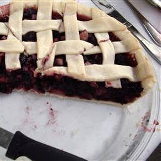 Mulberry Rhubarb Pie.