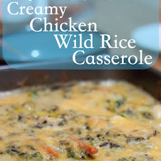 Scratch Creamy Chicken and Wild Rice Casserole.