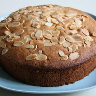 Eggless Almond Cherry Cake