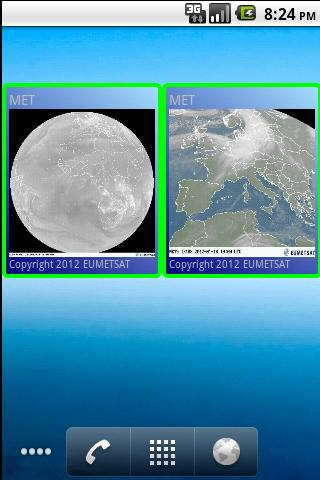 Weather satellite widget- screenshot