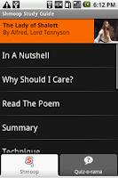 Screenshot of Shmoop: The Lady of Shalott