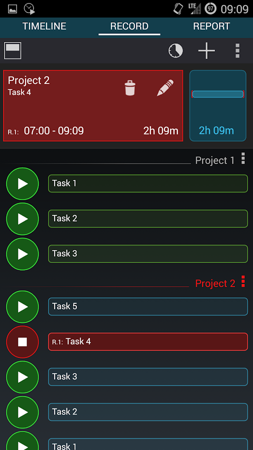 Time Tracker - Timesheet- screenshot