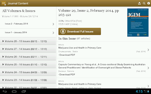 J of General Internal Medicine- screenshot thumbnail