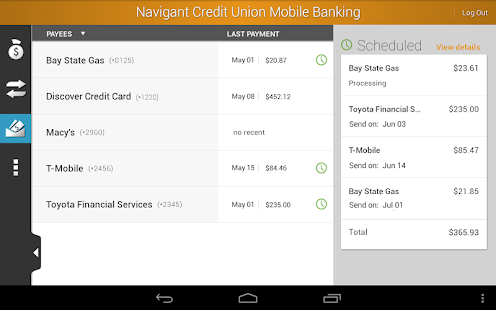Navigant Credit Union Mobile - screenshot thumbnail