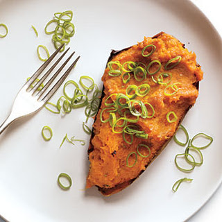 Twice-Roasted Sweet Potatoes with Chipotle