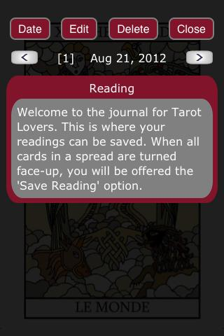 Tarot Lovers - screenshot
