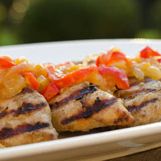 Grilled Ginger Chicken with Apricot Chutney.