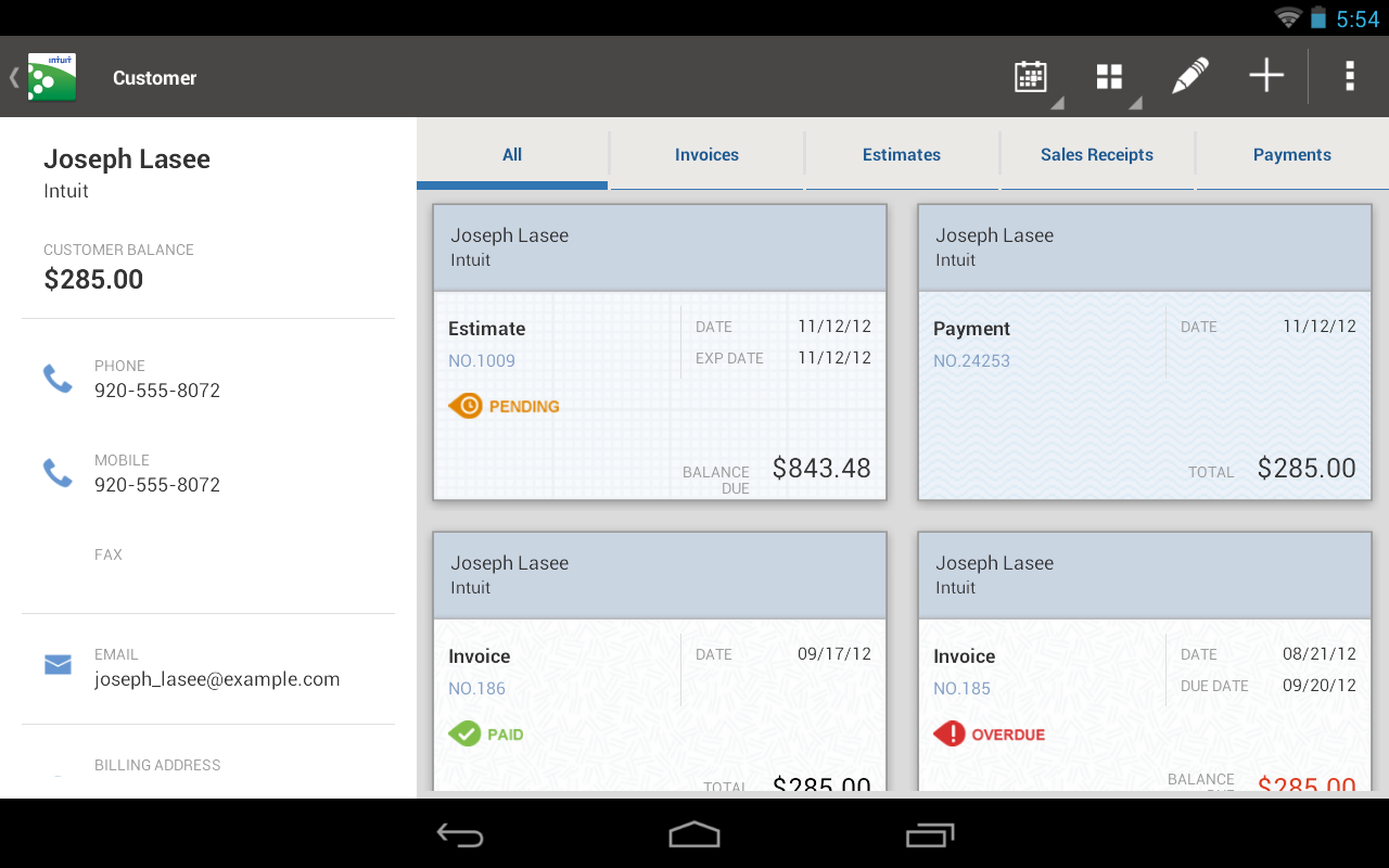 QuickBooks for Windows - screenshot