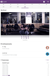 Fitocracy Workout Fitness Log - screenshot thumbnail