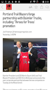OregonLive: Blazers News- screenshot thumbnail