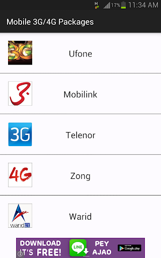 3G Packages-Pakistan