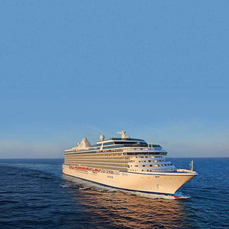 Sail into the sunset on Oceania Marina.