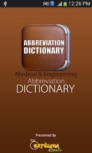 Medical Abbreviations screenshot for Android