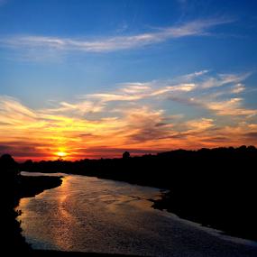 river sunrise by Richard Wright - Landscapes Sunsets & Sunrises ( #sunrise #delta #mississippi #clouds,  )