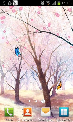 最唯美的樱花蝴蝶 LWP|玩個人化App免費|玩APPs