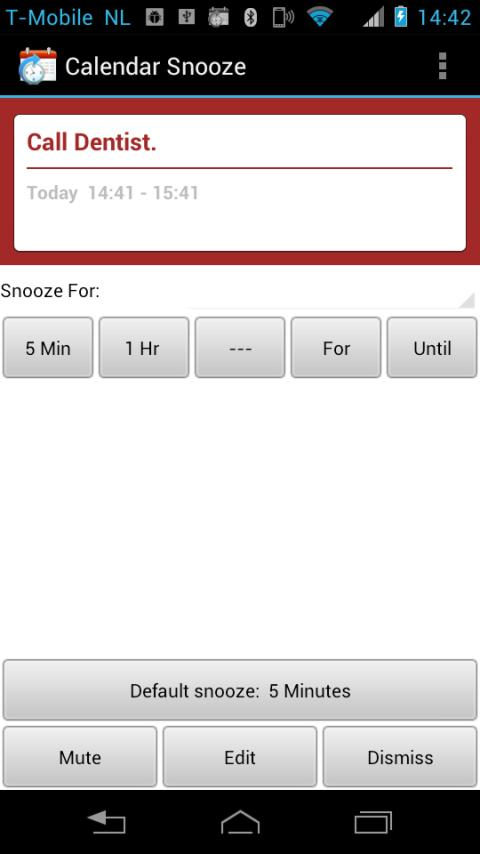 Calendar Snooze- screenshot