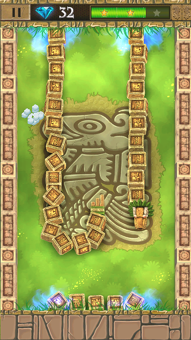Classic Snake Maya Jewel Quest- screenshot