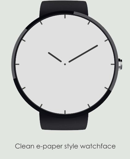 epaper watchface minimal