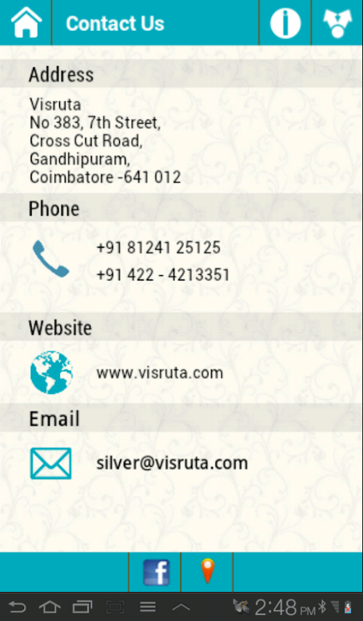 Visruta- screenshot