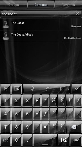 【免費個人化App】Theme TouchPal Glass Black-APP點子