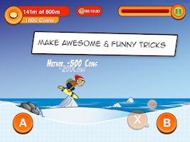 Screenshot of Skater Dave - Downhill Skating