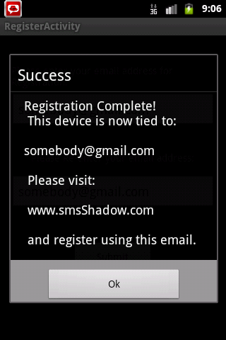 SMS Shadow Phone Tracker - screenshot