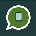 Whatsapp on tablet icon
