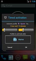 Screenshot of Profile Widget