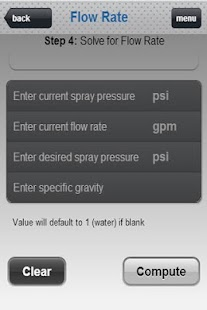 SprayWare Spray Calculator - screenshot thumbnail