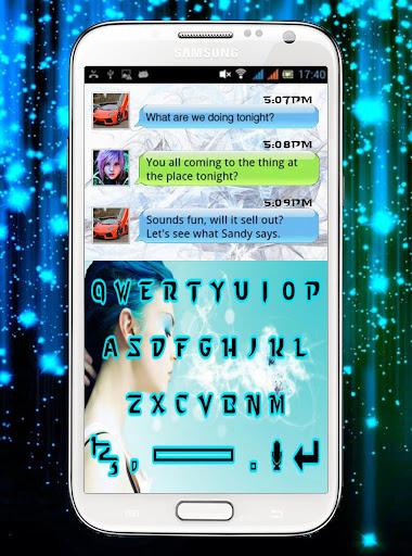 Blue Princess Keyboard Design