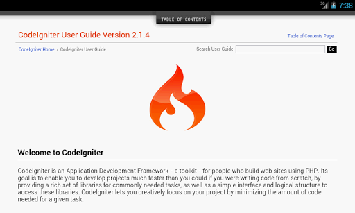 Codeigniter User Guide