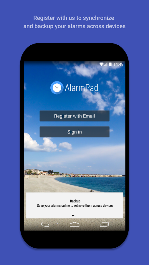 AlarmPad - Alarm Clock Free - screenshot