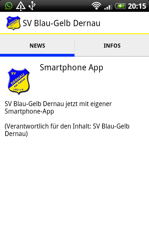SV Blau-Gelb Dernau – Screenshot