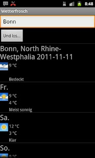 Wetterfrosch - screenshot thumbnail