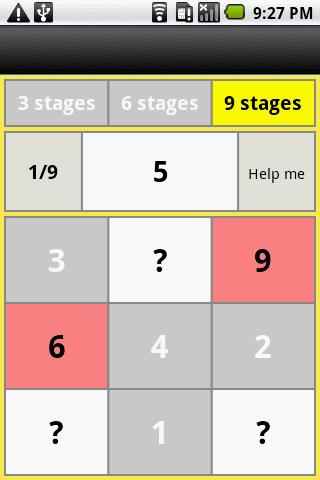 81 numbers ascend memory- screenshot