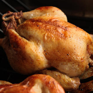 Cornish Game Hens with Millet Stuffing.