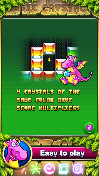 Magic Crystals: match 3 jewels- screenshot