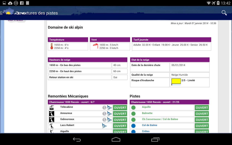 Météo Chamrousse - screenshot