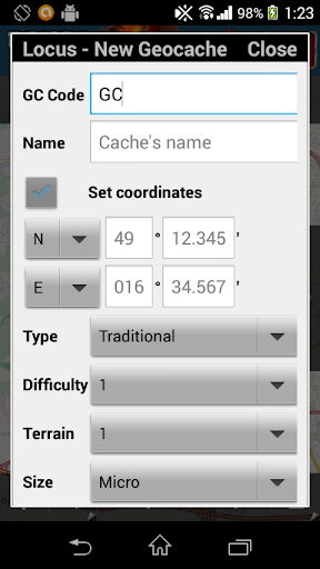 Locus - Addon New Cache Point