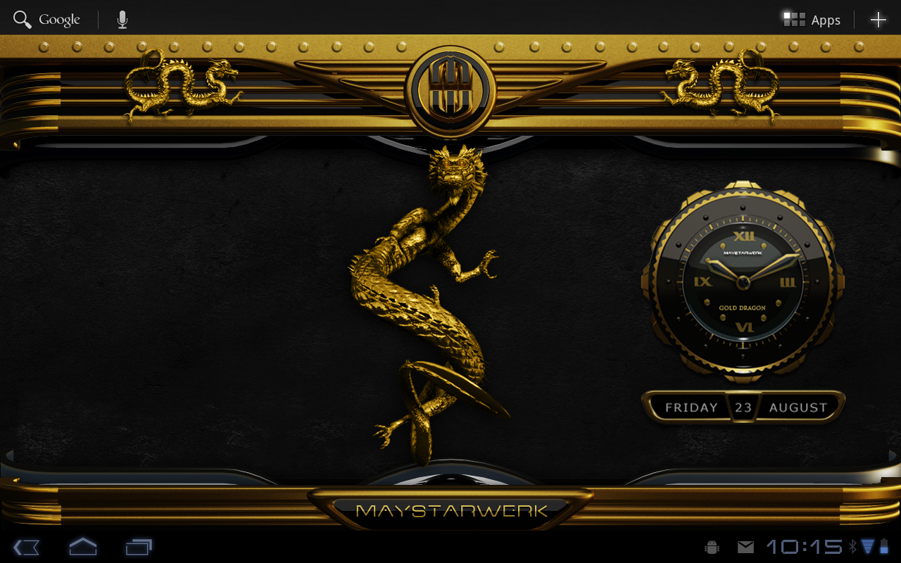 Next theme dragon gold android apps on google play for Gold 3d wallpaper