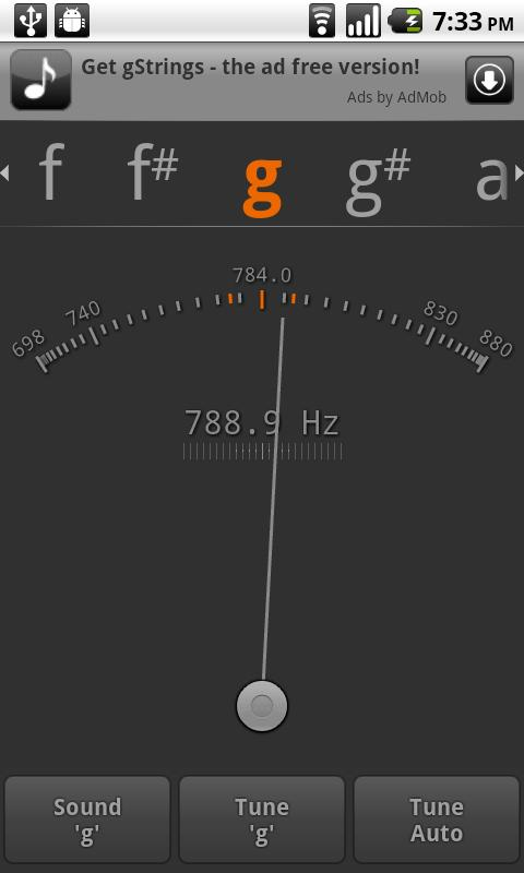 Tuner - gStrings Free - screenshot
