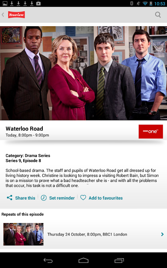 Freeview TV Guide - screenshot