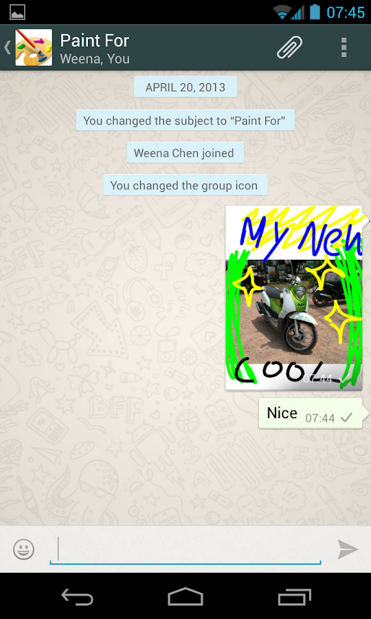 Paint for Whatsapp- screenshot
