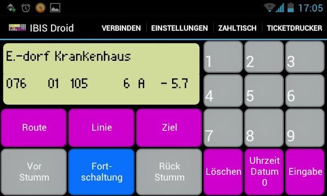 IBIS droid - screenshot