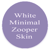 White Minimal Zooper Skin